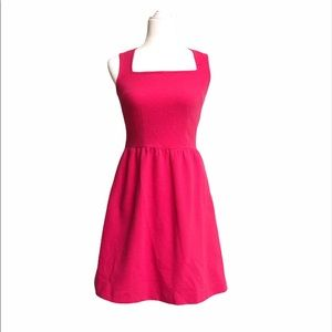 Hot pink mid length dress party sleeveless cute